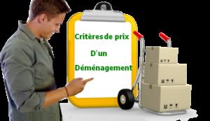 critères de prix d'un déménagement de professionnel